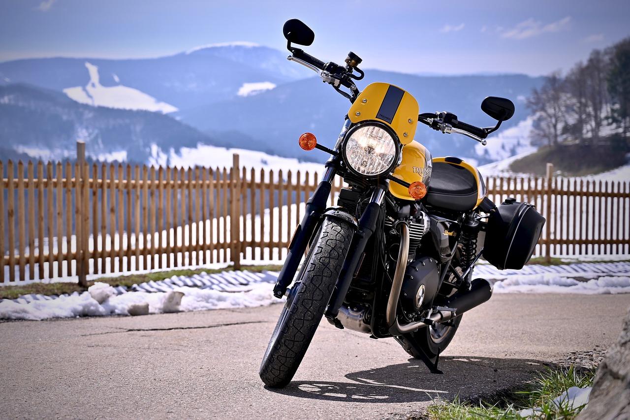 אופנוע חונה